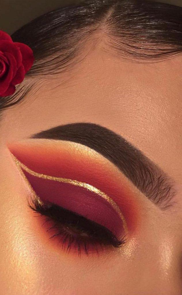 Maquiagem dos olhos DIY Glitter Sparkling Magic Gold
