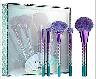 Conjunto de pincéis de maquiagem Sephora Collection Ocean Crush Fan