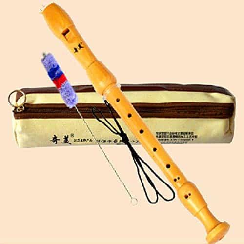 Gravador de madeira Flauta Barroca Dizi F Chave Alto 8 buracos Flauta Profissional Instrumentos Musicais de Madeira Clarinete Flauta