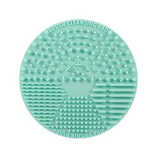 Escova de Limpeza de Escova, Ferramenta de Lavagem de Silicone Escova de Limpeza de Escova de Maquiagem Portátil Ferramenta de Lavagem de Cosméticos Limpador de Escova Cosmética com Ventosa para Dia dos Namorados