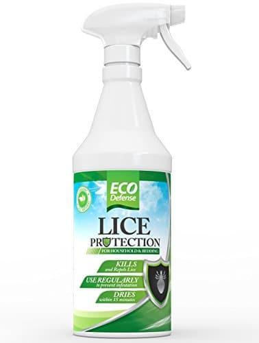 Tratamento de piolhos Eco Defense para casa, roupas de cama, pertences e muito mais - Ingredientes orgânicos, naturais e não tóxicos seguros - Funciona rapidamente para matar e repelir piolhos do seu ambiente