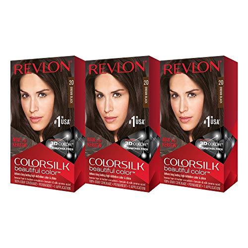 Revlon Colorsilk cor bonita, marrom / preto, 3 contagem