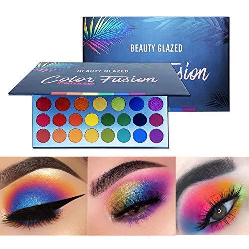 Paleta de maquiagem vitrificada com alta pigmentação, fácil de misturar Fusion de cores 39 tons metálico e cintilante Sombra de olhos Sombra à prova de suor e impermeável