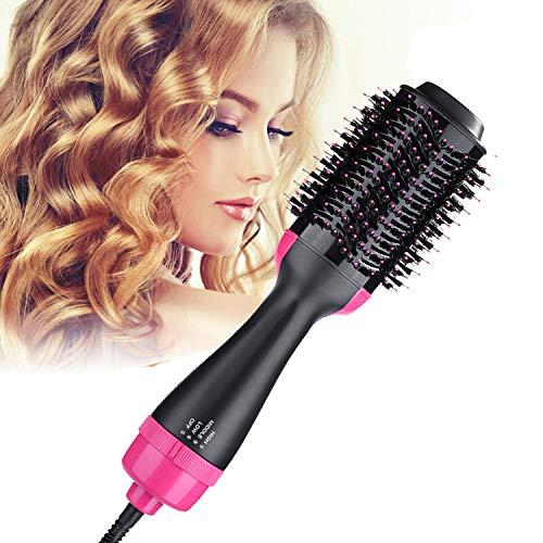B.Star One Step Hair Dryer e Styler Volumizer Escova de ar quente oval Escova de secador de cabelo Dry & Straighten & Curl Frizz suave com tecnologia Ionic