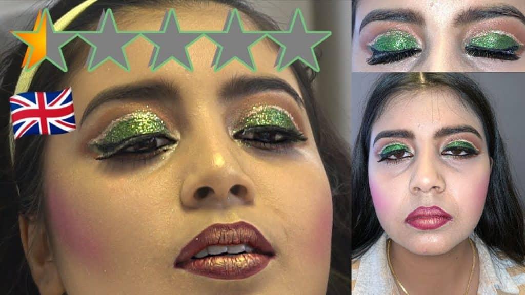 Fui ao pior artista de maquiagem revisado do Reino Unido - SOUTHALL EDITION