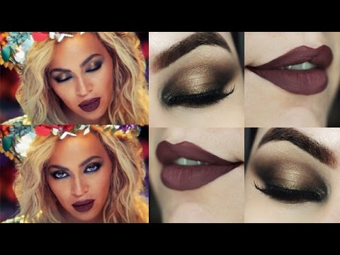 Beyoncé Hymn For The Weekend Makeup Tutorial - Esfumado Metálico para o Carnaval