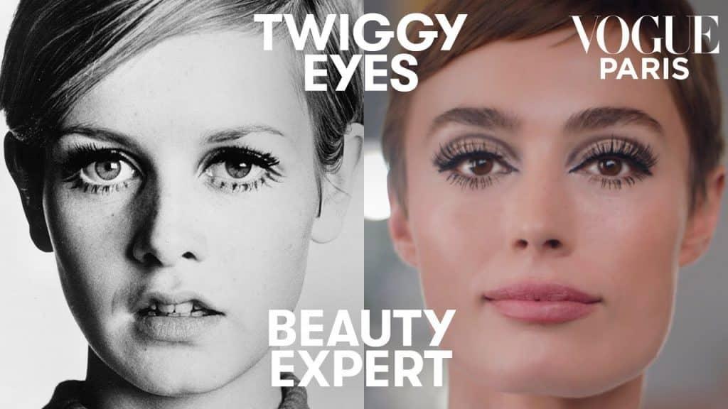 Faça a maquiagem dos olhos de Twiggy nos anos 60 em 5 minutos com Charlotte Tilbury | Especialista em beleza | Vogue Paris