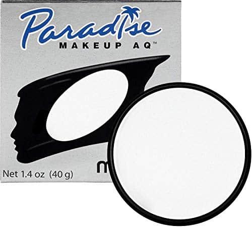 Mehron Makeup Paradise Makeup AQ Pintura para rosto e corpo (1,4 oz) (branco)