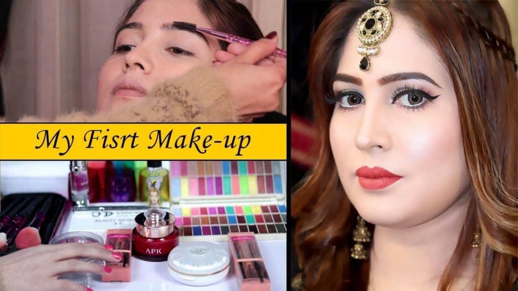 Minha maquiagem para festas com produtos cosméticos acessíveis