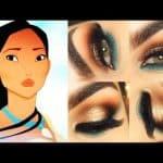 Maquiagem especial para Pocahontas
