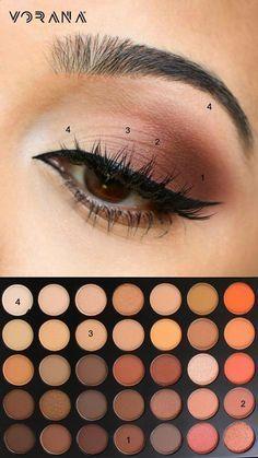 dicas simples de maquiagem dos olhos para iniciantes que tomam .. #eyeshadow #eyemakeup