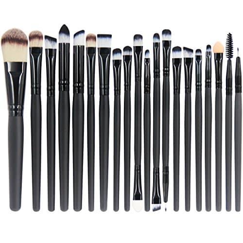 EmaxDesign 20 Peças Conjunto de Pincéis de Maquiagem Profissional Sombra para os Olhos Delineador Fundação Blush Lip Pincéis de Maquiagem Pó Creme Líquido Cosméticos Ferramenta de Pincel