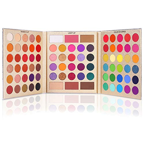 UCANBE Pretty All Set Eyeshadow Palette Conjunto de presente de feriado Pro 86 cores Kit de maquiagem Matte Shimmer Eye Shadow Highlighters Contour Blush Powder All In One Pallet Makeup