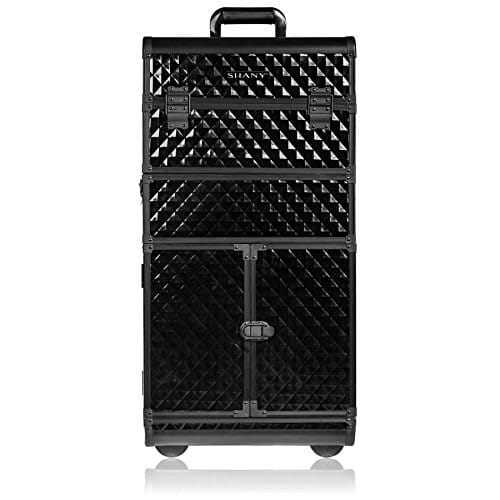 SHANY REBEL Series Pro Maquilhadores Rolling Train Case - Trolley - Curious Black Cat
