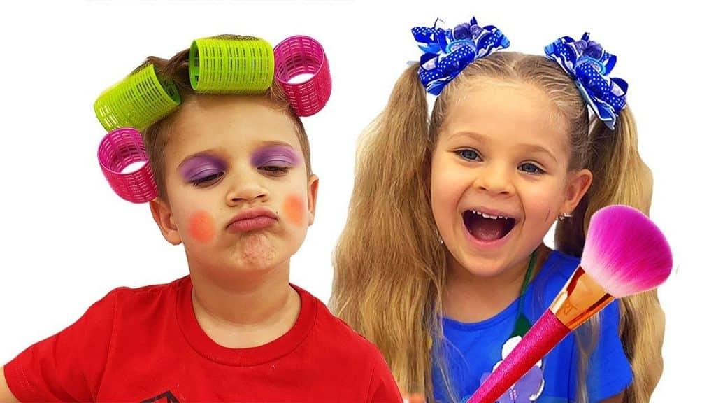 Diana Pretend Play with Kids Kits de maquiagem