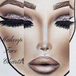Gráficos de rosto de maquiagem: Os gráficos de rosto de prática de papel em branco da pasta de trabalho para maquiadores profissionais