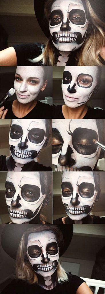 18 simples passo a passo tutoriais de maquiagem de Halloween para iniciantes 2018