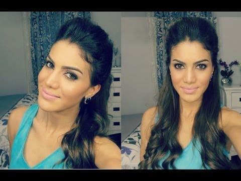 Penteado facil usando Topete por Camila Coelho