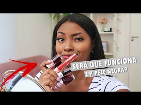TESTANDO LIP TINTS EM PELE NEGRA Camila Nunes