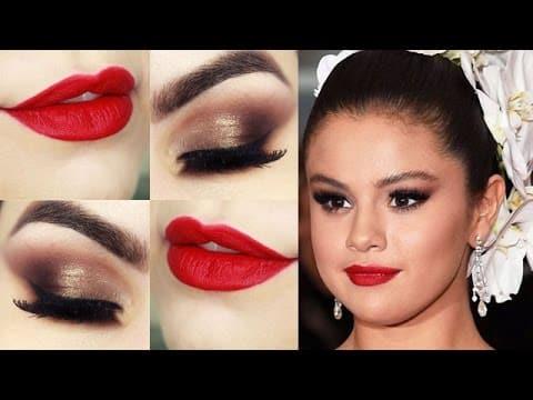 Makeup Selena Gomez MET - Maquiagem com PRODUTOS NACIONAIS