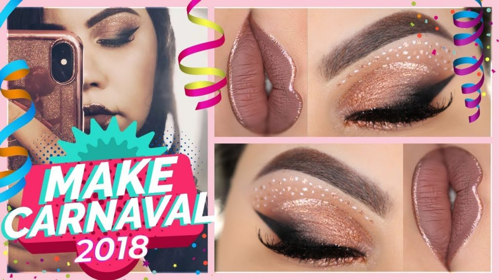 Maquiagem Carnaval 2018 - ROSE GOLD MAKEUP TUTORIAL