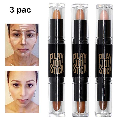 Contour Stick, Concealer Contour, Highlighters Stick, Face Highlighters, 6 cores Maquiagem corretivo de contorno corretivo, Maquiagem Double-end Highlight Contour Sticks Set de creme Bronzer e Highlighter Stick