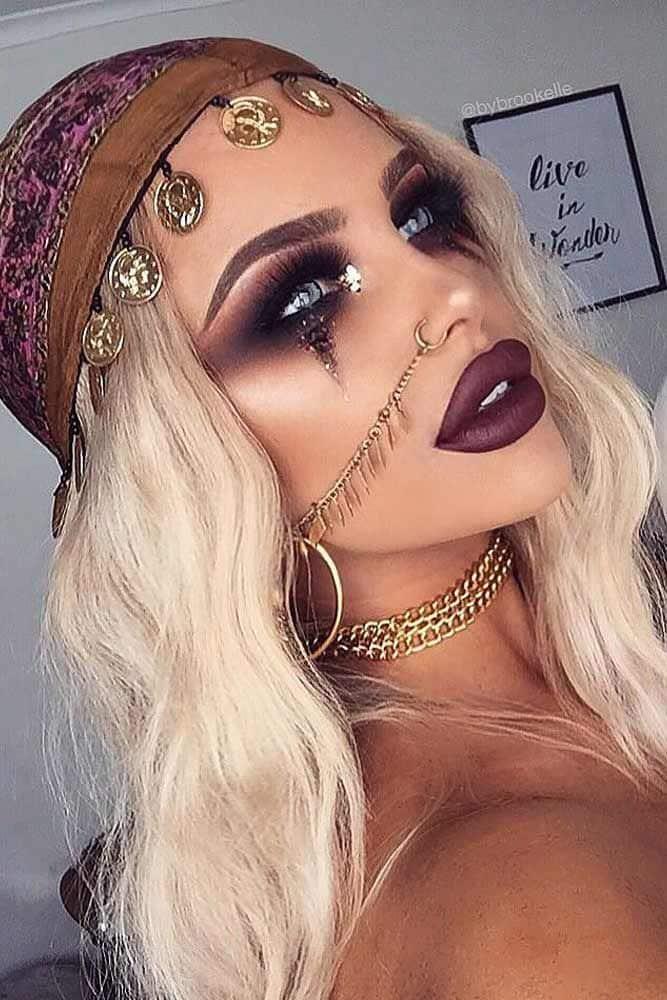 Idéias bonitas de maquiagem de Halloween Você vai adorar ★ Veja mais: glaminati.com
