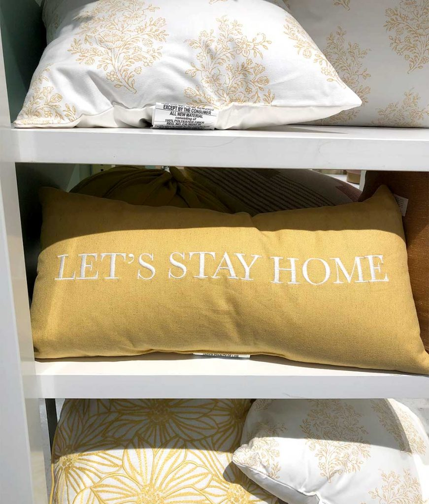 target lets stay home pillow
