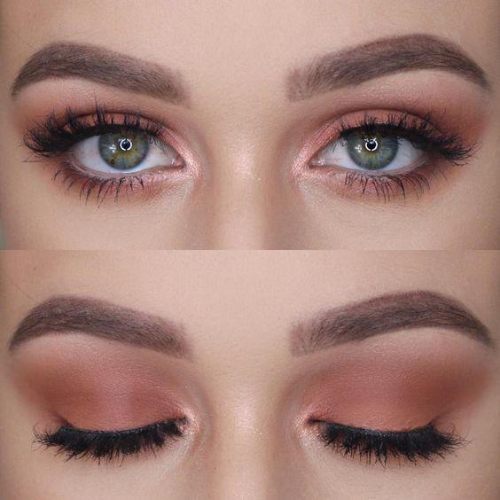Firma Beauty Conjunto de pincéis para olhos de 6 peças para uma maquiagem rosa natural