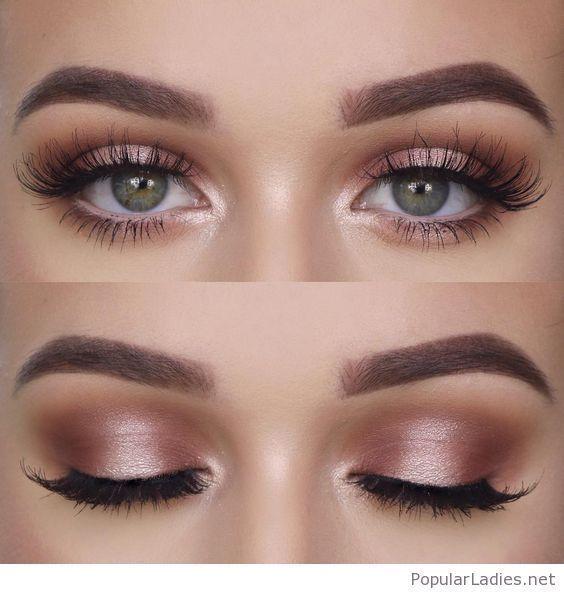 Maquiagem natural para olhos verdes, eu adoro