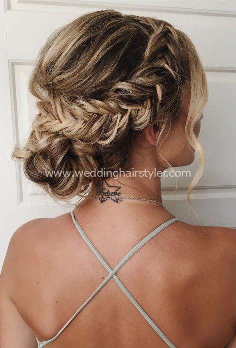 updo sem esforço, idéias de penteado de casamento, updos de noiva, casamento ...