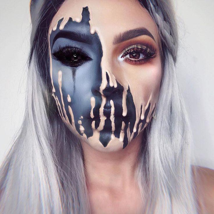 ilusão de ótica compõem carnaval halloween cor da pele negra turva # ...