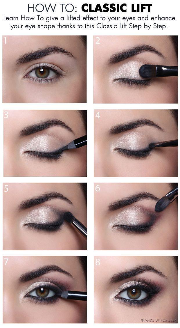 Tutoriais de maquiagem dos olhos naturais da moda para o trabalho