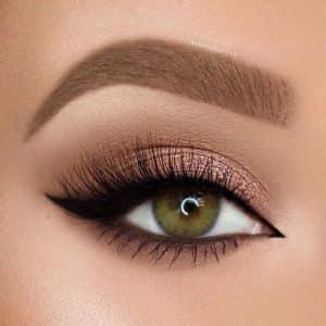 Maquiagem dos olhos para olhos pequenos - torna os olhos maiores e mais brilhantes