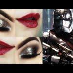 Makeup Tutorial Star Wars - Maquiagem com Olho Preto Esfumado e Glitter