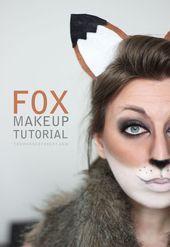 Tutorial de maquiagem Fox para Halloween (- Wonder Forest -) Tutorial de maquiagem Fox para ...