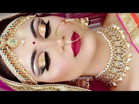 BRIDAL INDIANO DE LONGA DURAÇÃO Verão Tutorial de maquiagem IMPERMEÁVEL Como fazer maquiagem de noiva no verão