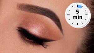 5 minutos de maquiagem dos olhos para o trabalho / escola / todos os dias