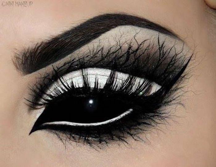 ▷ 40 idéias para lentes de contato de Halloween na noite de Halloween