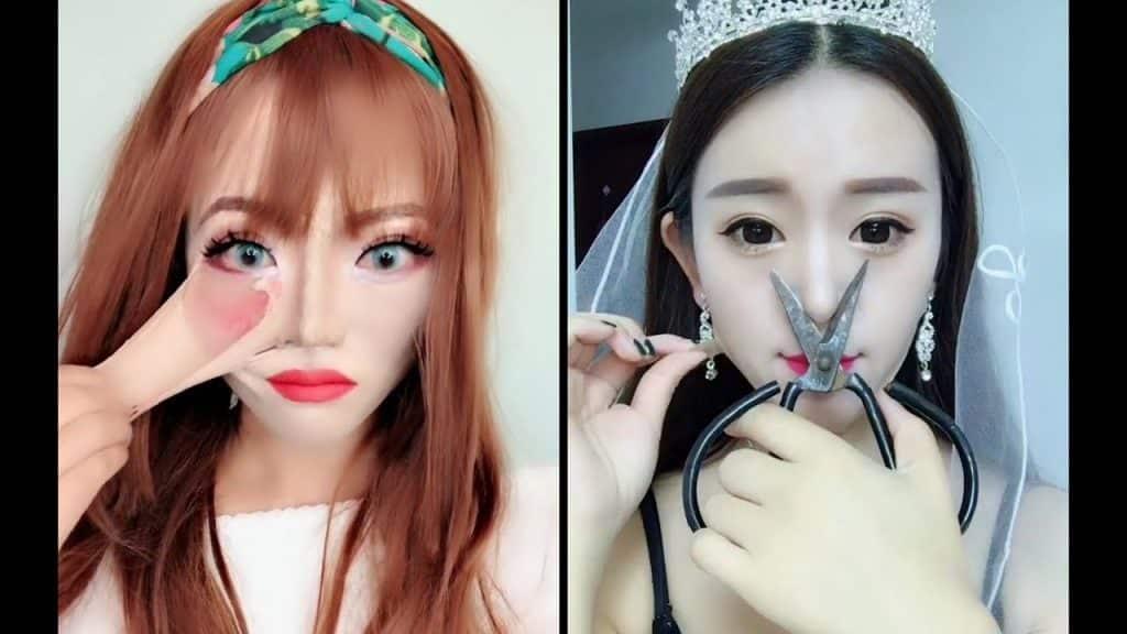 [OMG] Makeup vs No Makeup 💄 화장 전후 비교 👄 Maquiagem beleza mágica ❤️ Maquiagem beleza mágica