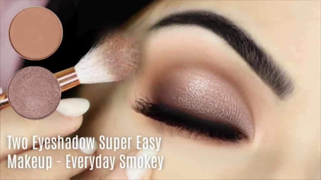 Tutorial de maquiagem para iniciantes nos olhos usando um fosco e um metálico | Como aplicar a sombra