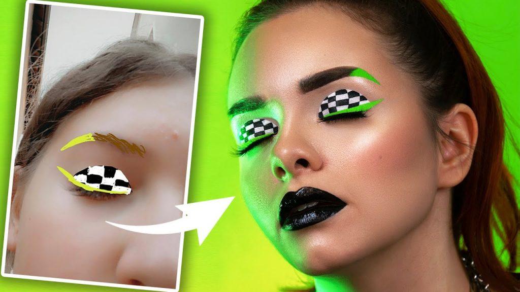 Meus seguidores pintam meus looks de maquiagem por UMA SEMANA!  🥵
