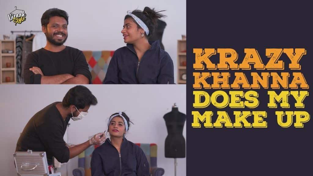 @Krazy Khanna faz minha maquiagem |  Estilo Kiraak |  Chai Bisket #WithME