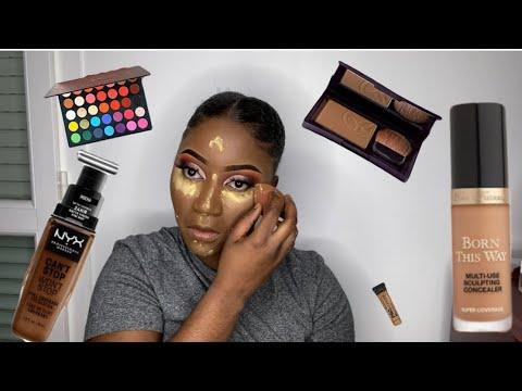 como conseguir uma tez perfeita + maquiagem para os olhos
