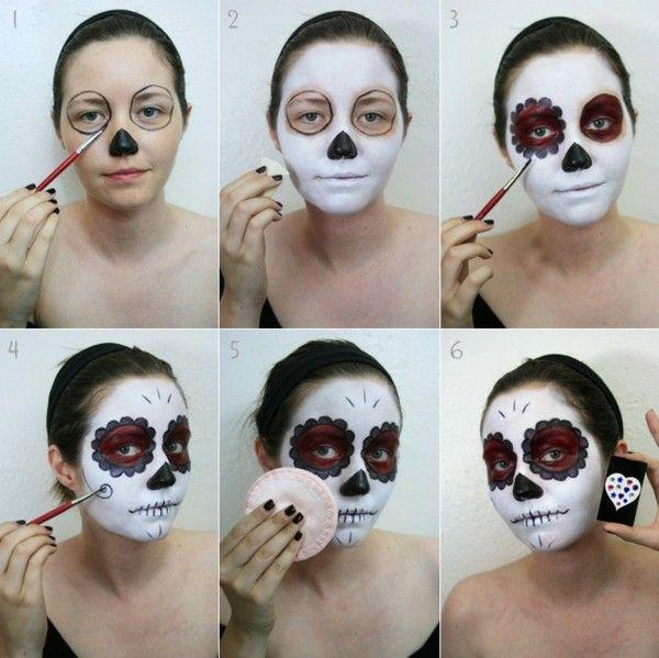 Maquie rostos de Halloween - 30 exemplos simples com efeito de terror garantido